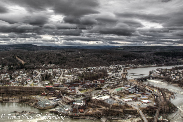 Bellows Falls from Fall Mountain